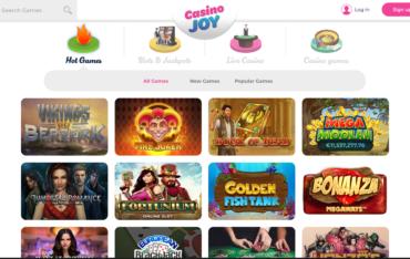 Casino joy games selection
