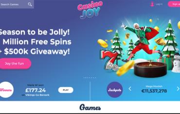 casino joy website screenshot