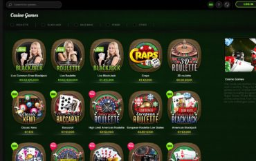 888Casino-games selection