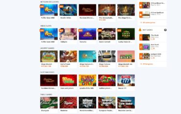 Betsson-games selection