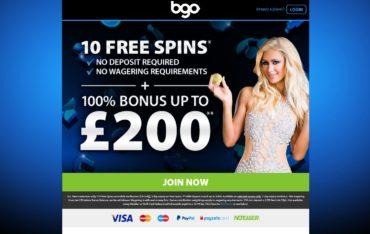 BGO casino Website review