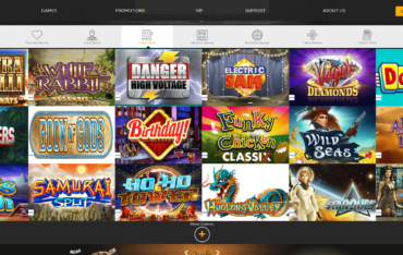 Casino Cruise_Games selection