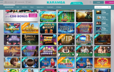 Karamba Casino Games Selection