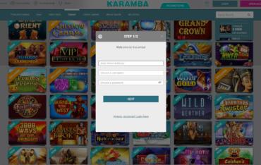 Sign up at Karamba Casino