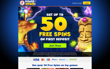 Power Spins Website Review