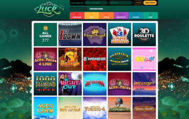 Vegas Luck Casino Games selection