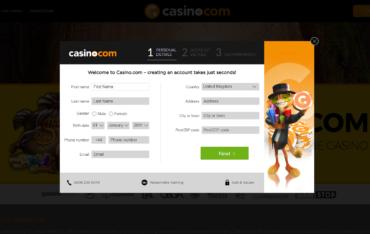 Casino.com Sign up