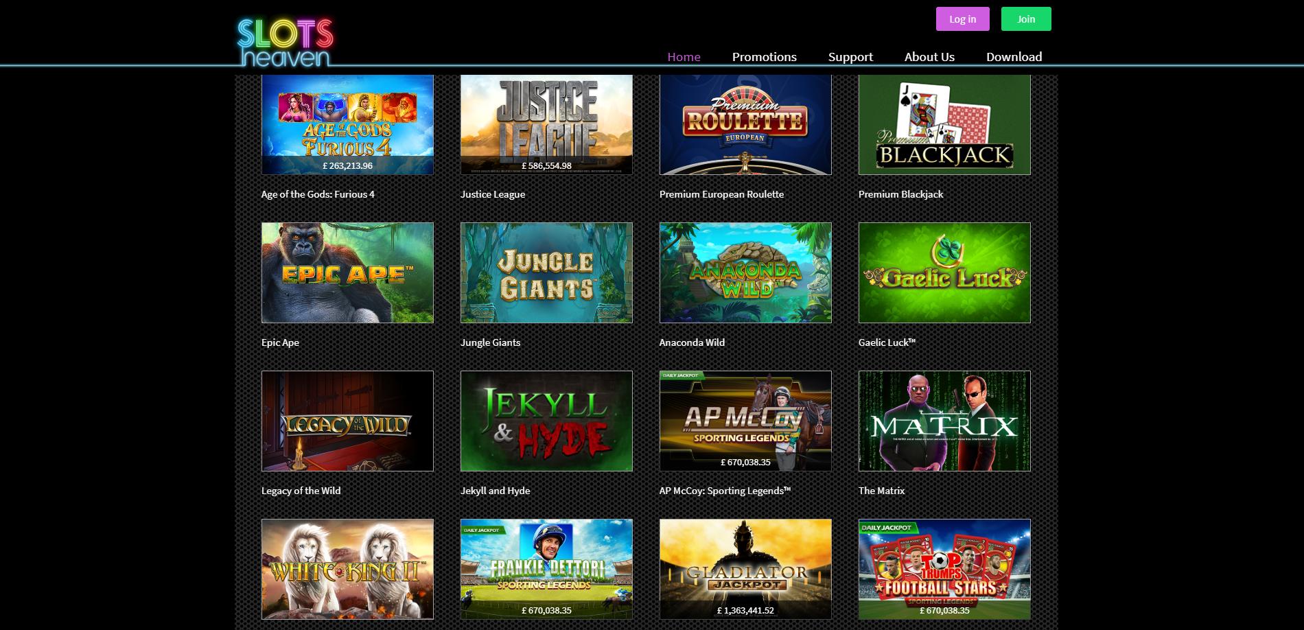 Free Games Slots Heaven