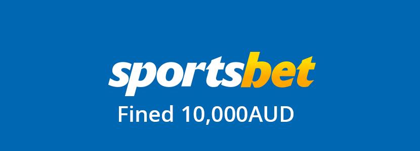 sportsbet au fined 10k