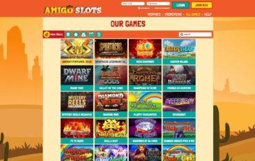 Amigo slots-games selection