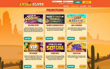 Amigo slots-promotions