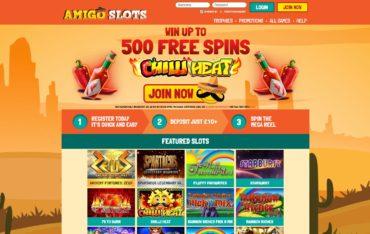 Amigo slots-website review
