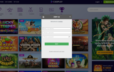 Casiplay Casino sign up