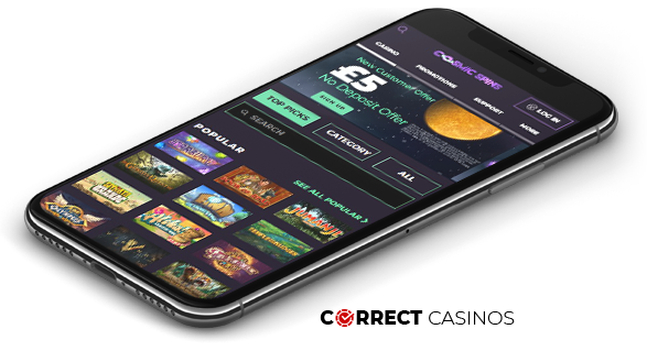 Cosmic Spins mobile casino
