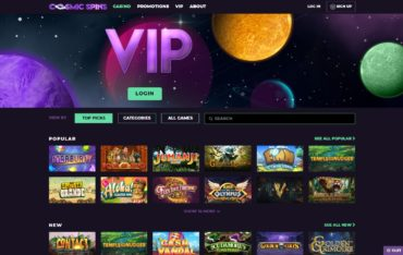 Cosmic Spins-website review