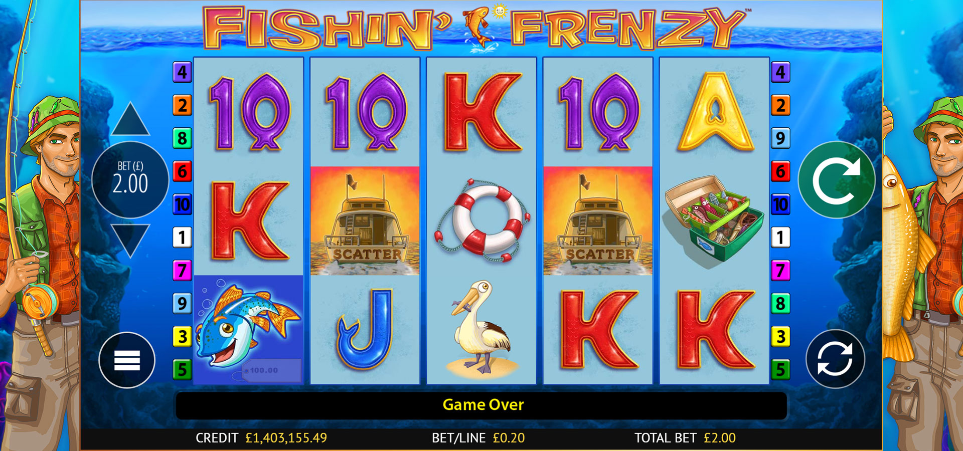 Fishing Frenzy Free Spins No Deposit