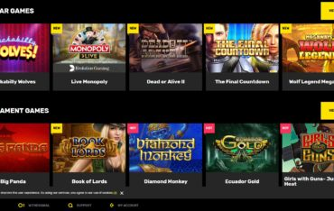Hyper casino-games selection