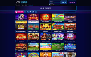 Late Casino games selection