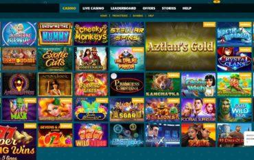 Spinaru casino games selection