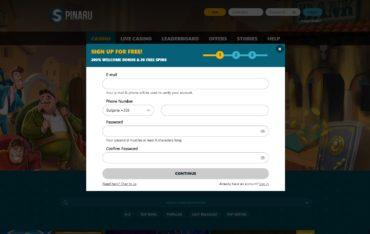 Spinaru casino sign up