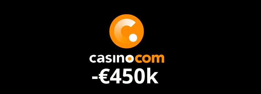 casino com fined 450k euro