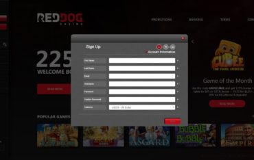 sign up at red dog casino