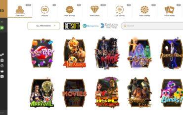 Bootlegger Casino-games selection