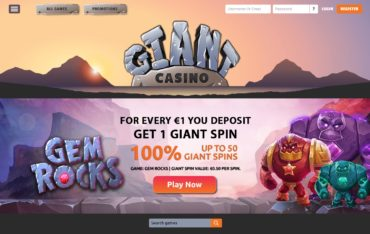 GIANT Casino-website review