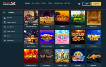 PCF casino-games selection