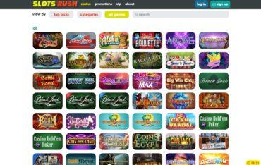 Slotsrush-games selection
