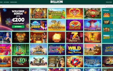 Billion Casino-games selection