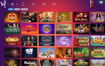 Casino Gods-games selection