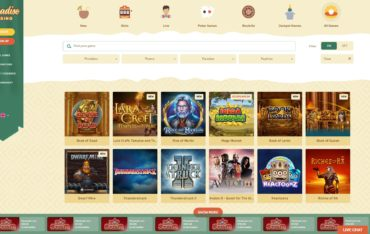 Paradise Casino-games selection