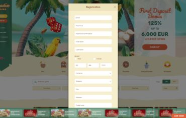 Paradise Casino-sign up