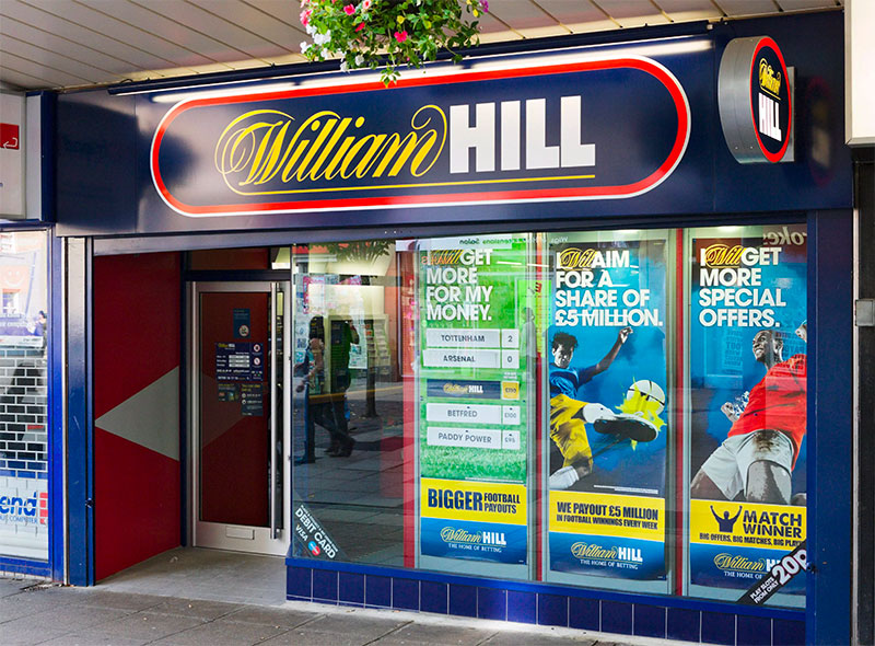 William Hill betting shop closed