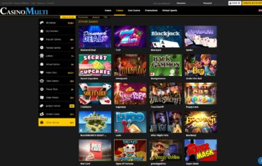 Casino Multi-games selection