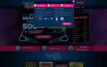 Pinball Slots-sign up