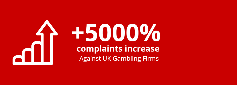 Complaints Against UK Gambling Firms See 5000% Increase