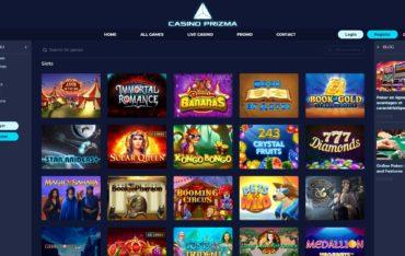 Casino Prizma-games selection