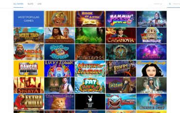 Surf Casino-games-selection