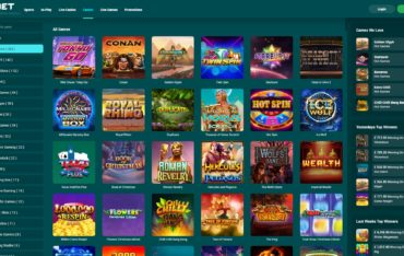 22Bet Casino-games selection