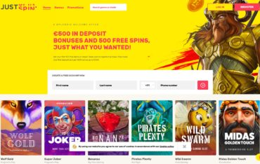 JustSpin-website review