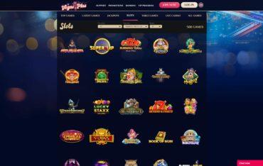 Vegas Plus-games selection