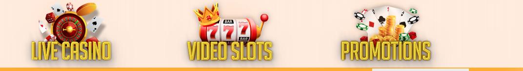 All Cashback Casino menu