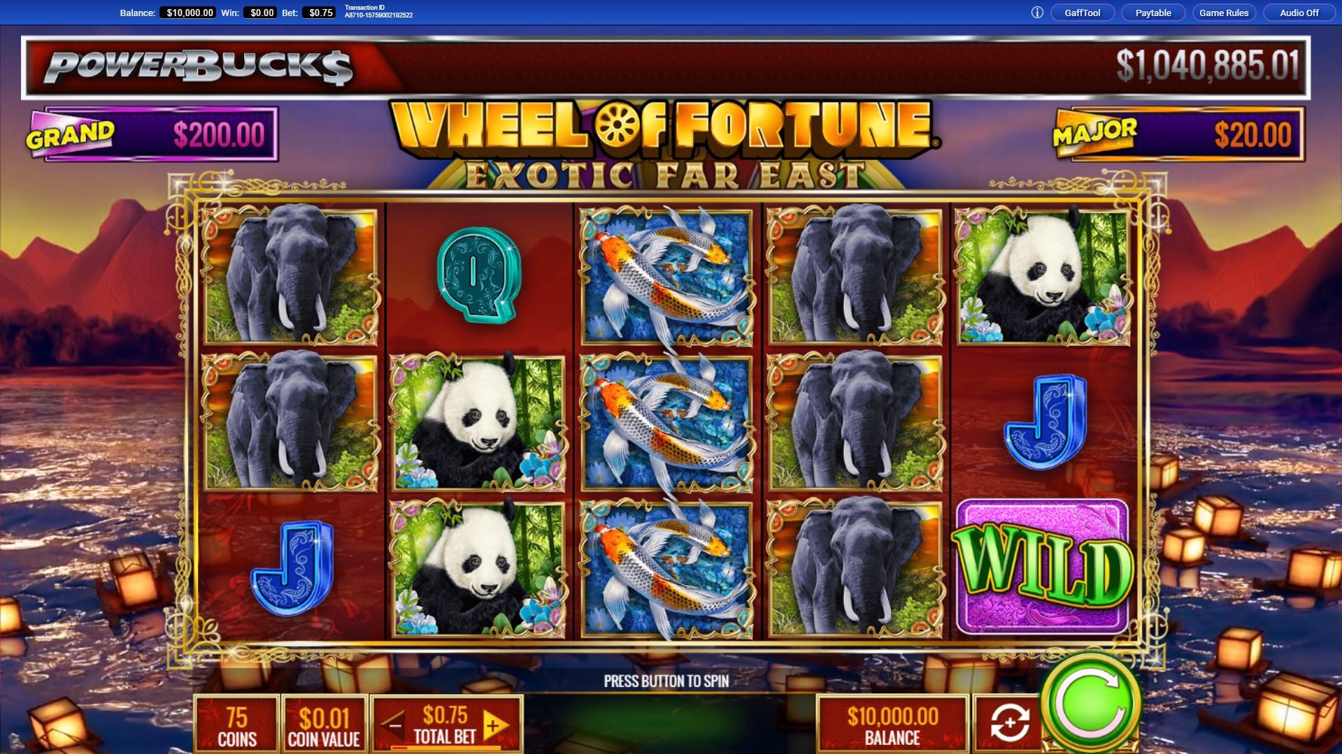 Powerbucks Wheel Of Fortune Exotic Far East Slot Free Demo