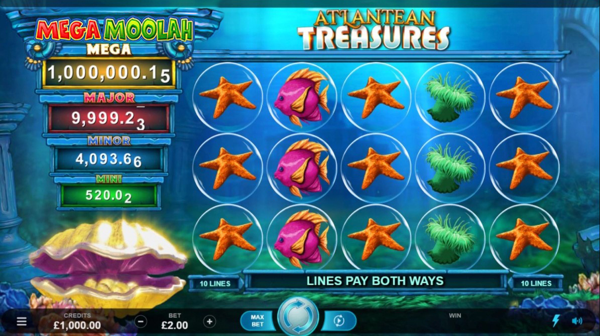 Spiele Atlantean Treasures Mega Moolah - Video Slots Online