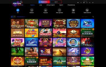 Fortune Clock Casino-website review