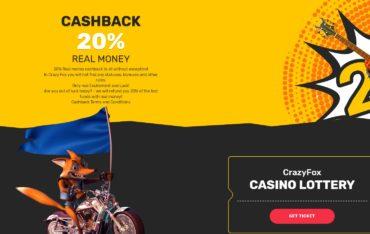 Cashback at CrazyFox Casino