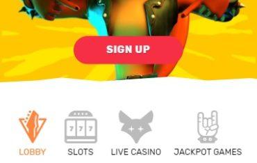 CrazyFox Casino Mobile Version