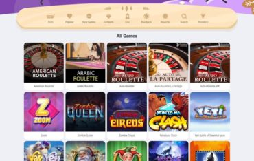 Games at Cookie Casino
